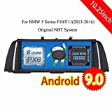 ROADYAKO 10.25Inch Android 9.0 Head Unit for BMW 5 Series F10 F11 2013 2014 2015 2016 Car CD Radio Stereo GPS Navigation 3G WiFi Mirrorlink RDS No DVD
