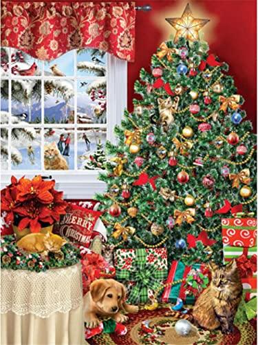 Puzzle 1000 Pezzi Adulti, Gioco di Abilità per Tutta la Famiglia, Gioco di Posa Colorato, Puzzle per Adulti da 14 Anni Albero di Natale-1000 Pezzi
