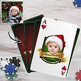 Baraja de Carta Poker con Foto y Texto Personalizado Regalo Original Personalizado para Cumpleaños Aniversario Navidad