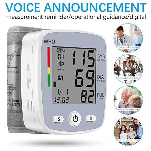 51E+5NPG44L - U-Kiss Tensiómetro de muñeca, monitor de presión sanguínea para el hogar o portátil (Gris)