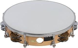 BFHCVDF Demi-Lune Tambourin Orff World Percussion Instrument de Percussions Rouge