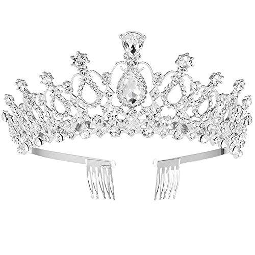 BAIBEI Diadema Corona Tiara con Peine Hairband de Cristal Diamantes de imitación...