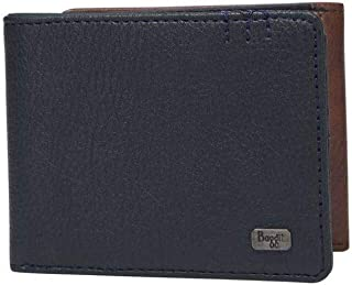 Baggit Mens Leather 2 Fold Wallet (Blue_Small)