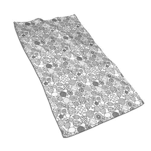 Toallas de mano de secado rápido súper absorbentes suaves y negras de las tortugas blancas/toalla de baño/toalla de playa - 27.5 x 17.5 pulgadas