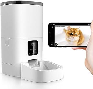 自動給餌器 カメラ付き 自動餌やり機 猫 犬 えさやり器 4L大容量 タイマー式 定時定量 1080P 留守番のペットと対話でき 自動ペット餌やり カメラ フードオートフィーダー 2WAY給電 最大20日間連続自動給餌 iOS/Android対...