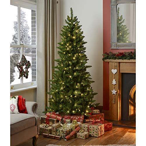 SHBV 7 FT Pencil Pine árbol De Navidad,Artificial De Abeto Árbol Navideña...