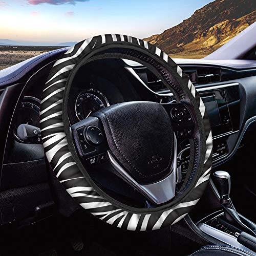 POLERO - Funda protectora universal para volante de coche, camión, SUV, furgoneta, 38 cm de diámetro, estampado de leopardo