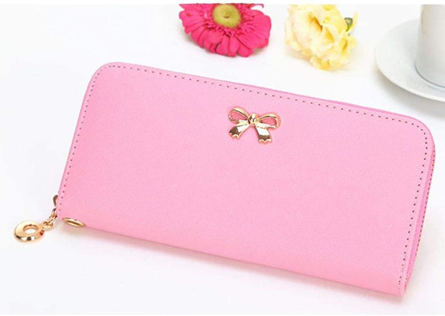 Girls Purse Women's Wallet,Lady Purse Large Volume PU Leather (color   A)