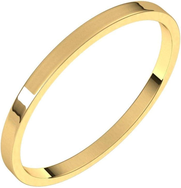 Diamond2Deal 14K Great interest Yellow 1.5 mm Wedding Ultra-Light Rin Band Limited price Flat