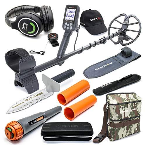 Best Review Of Nokta Simplex Submersible Metal Detector with Wireless Headphones, Waterproof Pinpoin...