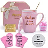 HULASO Birthday Gifts for Friends Female, Funny Gift Basket for Women with Coffee Mugs and Socks - Gift for Her, Wife, Mom, Grandma, Daughter, Sister, Aunt, Coworker