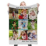 Custom Blanket with Picture Custom Collage Blanket Make a Customized Throw Blanket for Kids/Adults/Family, Souvenir, Gift