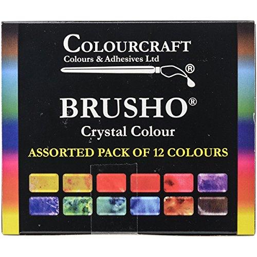 "Brusho by Colourcraft Farben-Set ""Crystal"", 12Farben"