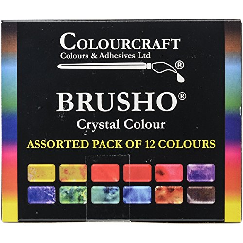 Brusho by Colourcraft 12 Color Brusho Crystal Colour Set