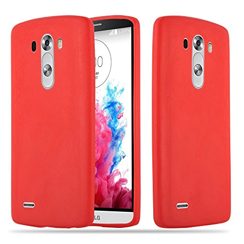 Cadorabo Funda para LG G3 en Candy Rojo - Cubierta Proteccíon de Silicona TPU Delgada e Flexible con Antichoque - Gel Case Cover Carcasa Ligera
