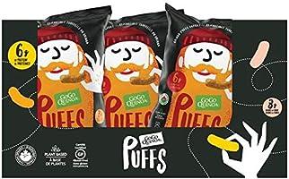 GoGo Quinoa Puffs Sriracha 9 Count x 113g, Organic, Plant Based, Gluten Free, Peanut Free, Kosher