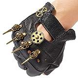 dream cosplay Steampunk Lederhandschuhe Herren Gothic Fingerlose Handschuhe -