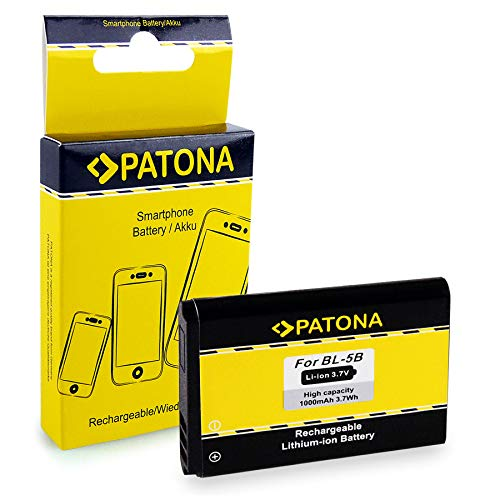 PATONA Batteria BL-5B compatibile con Nokia 5500 6020 6070 6080 6120 7260 7360