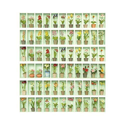 S-TROUBLE 6 uds, Maceta, Suelo de baldosas, Escalera, baño, decoración de Cocina, calcomanías murales Impermeables, Papel Tapiz artístico Adhesivo