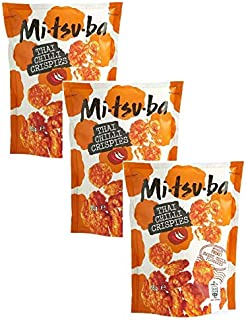 Mitsuba Snack Salzige Reiscracker mit Chili-Geschmack - 3 x 85 Gramm