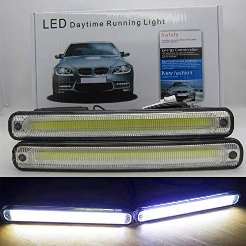 VAWAR COB LED Tagfahrlicht, 12V DC Tagfahrleuchten, E4 Scheinwerfer, Nebelscheinwerfer, Weiß