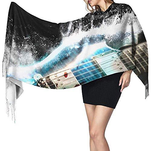Brave Har Bufanda Guitarra Eléctrica Para Mujer Grandes Chales De Pashmina Suave Envuelve Bufanda Ligera