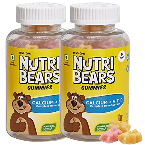 NutriBears Children€™s Calcium And Vitamin D Gummies For Kids And Teens, 2 Pack