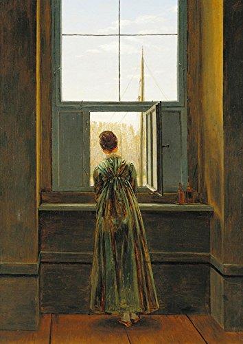 Das Museum Outlet–Caspar David Friedrich–Frau an einem Fenster–Poster Print Online kaufen (152,4x 203,2cm)