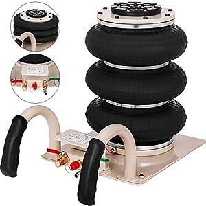 VEVOR Gato Neumático de 3 Bolsas Gato de Aire de Bolsa 3T Gato Neumatico para Coche Gato Neumático de Aire