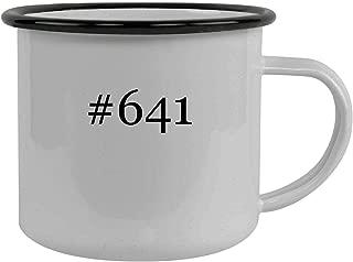 #641 - Stainless Steel Hashtag 12oz Camping Mug, Black