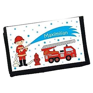 MissRompy Feuerwehr (834) Geldbeutel mit Name Geldbörse Kindergeldbeutel Kindergeldbörse Wunschname
