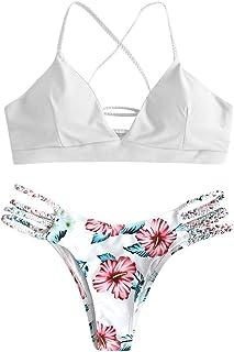 Conjuntos de Bikinis para Mujer Push Up Mujeres Traje de BañO Estampado Bohemio Dividido BañAdores con Relleno Tops y Braguitas Mujer 2020 brasileños vikinis