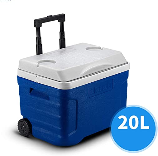 KAX Réfrigérateur-glacière pour voiture Grandes roues sur roues 21 42 p. Boisson alimentaire Pique-nique sur la plage Camping Sac de glace isolé Glacière réfrigérée-Bière extérieure Fête Boîte de