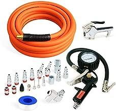 FYPower 22 Pieces Air Compressor Accessories kit, 3/8 inch x 25 ft Hybrid Air Compressor Hose Kit, 1/4