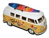 Volkswagen Bus 1962 classique Flower Power, camper avec planche de surf Groovy Produit officiel VW