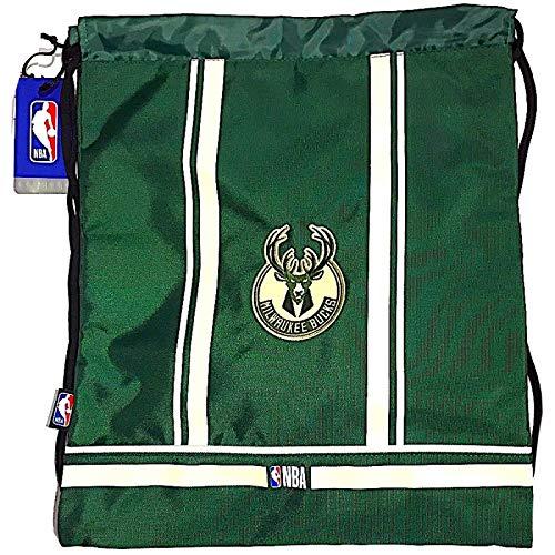 NBA Sacca Porta Scarpe Originale panini Milwaukee Bucks Basket Verde Ufficiale Zaino Coulisse con Zip