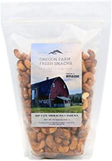 Oregon Farm Fresh Snacks - Rip City Sriracha Cashews (16 oz)