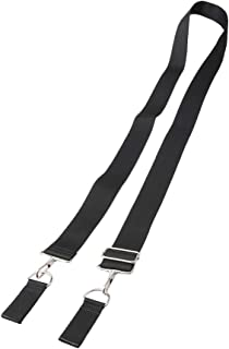 Yibuy Black Belt Backpack Shoulder Bag DIY Strap with Buckle with 38MM Width
