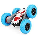 Remote Control Car, Toy Grade 1:28 Scale RC Cars, RC Stunt Car for Kids 4WD Off Road Rechargeable 2.4GHz Double Sided Rotating 360° Flips Vehicles for 3-12 Year Old Boy and Gril Toys Birthday Gift