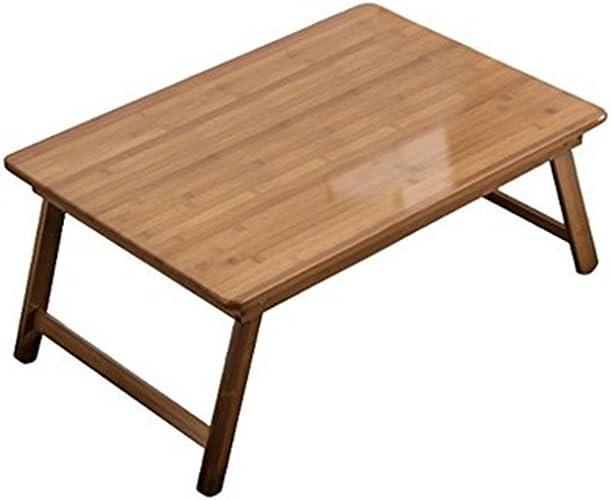 NAN Bureau d'ordinateur Paresseux Livre de lit dortoir Simple Table d'apprentissage Facile à Installer Pliante Bambou Pratique (Taille   L70cm x W40cm)