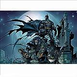 Smklcm Novela Resistente a la Fatiga 520P niños Partición de Madera del Rompecabezas de Dibujos Animados de Batman DC Modelo cómico Adulto descompresión del Juguete (Color : A, Size : 80P)