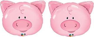 "Qualatex Playful Smiling Piggy Farm Animals 30"" Balloon Mylar - 2 Pieces"