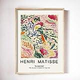 Vintage Henri Matisse Carteles e impresiones Vintage Arte de pared abstracto Impresiones en lienzo Cartel Beige Pintura de lienzo sin marco F 30x45cm
