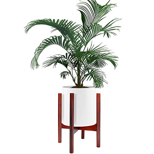 Soporte de Plantas de Jardín de Casas Se adapta a una maceta para macetas de 10 pulgadas, maceta de madera, para exteriores,...