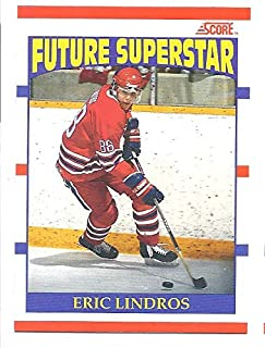 ERIC LINDROS 1990-91 Score Canadian French Bilingual #440 RC Rookie Card Oshawa Generals Philadelphia Flyers Hockey