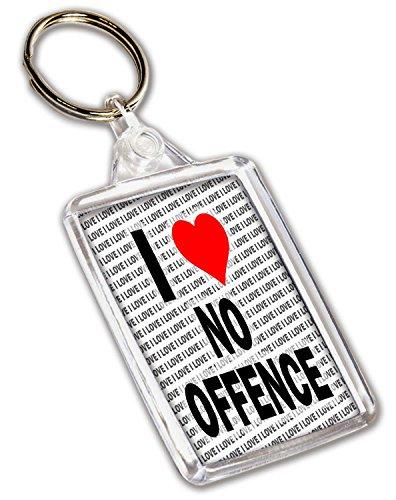 I love keine straftat Schlüsselanhänger–Geschenk–Geburtstag–Weihnachten–Weihnachtsgeschenk