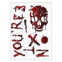 ハロウィーンデコレーション ハロウィーンの装飾恐ろしい血まみれのハンドプリントステッカーハロウィーンの窓の壁クリング床デカールステッカーハロウィーンパーティー小道具 ハロウィーンの小道具 (Color : F)