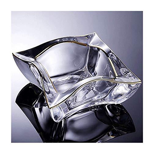 Cuadrado de cristal transparente para cigarrillos para cigarrillos, de cristal, para interiores, exteriores, oficina, mesa, pub, jardín, cenicero (color: B) BJY969 (color: B)