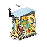 KEHUASHINA Mejores Accesorios de Regalo de cumpleaños para Adultos y niños Proyecto de Madera casa de muñecas DIY decoración de la casa