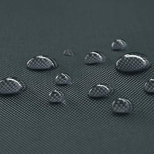 NOVELY® Oxford Big | Waterproof | 1 lfm | Polyester 600D Stoff | Wasserdicht | Outdoor | PVC | Meterware | Extrem Reißfest | Robust 02 Graphit